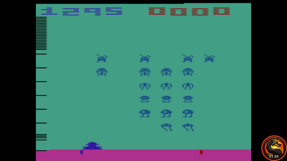 omargeddon: Space Invaders: Game 9 (Atari 2600 Emulated Expert/A Mode) 1,295 points on 2020-07-13 21:58:38