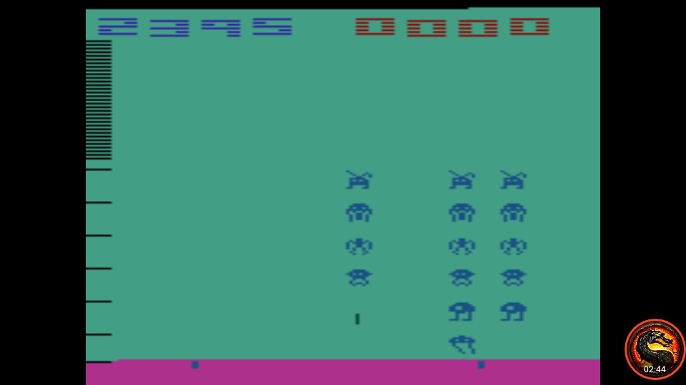 omargeddon: Space Invaders: Game 9 (Atari 2600 Emulated Novice/B Mode) 2,395 points on 2020-07-06 00:08:03