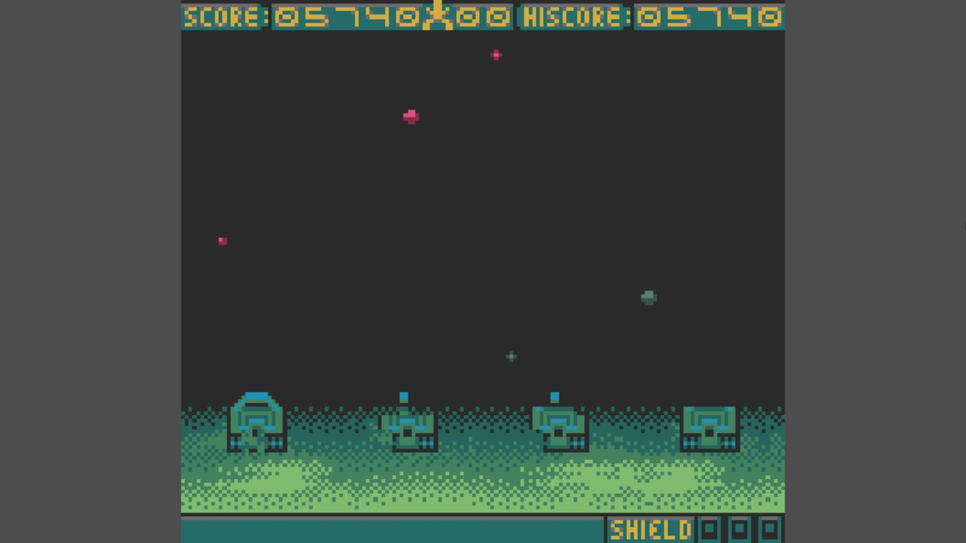 AkinNahtanoj: Space Invaders (Game Boy Color Emulated) 5,740 points on 2020-10-14 16:29:56