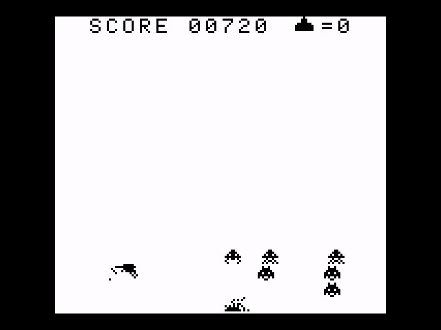 AkinNahtanoj: Space Invaders (Game Boy Emulated) 720 points on 2020-10-14 07:13:47