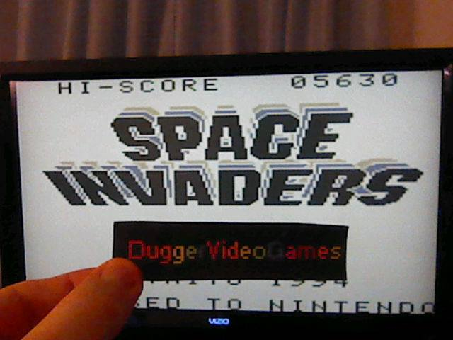 DuggerVideoGames: Space Invaders (Game Boy Emulated) 5,630 points on 2017-12-03 21:38:05