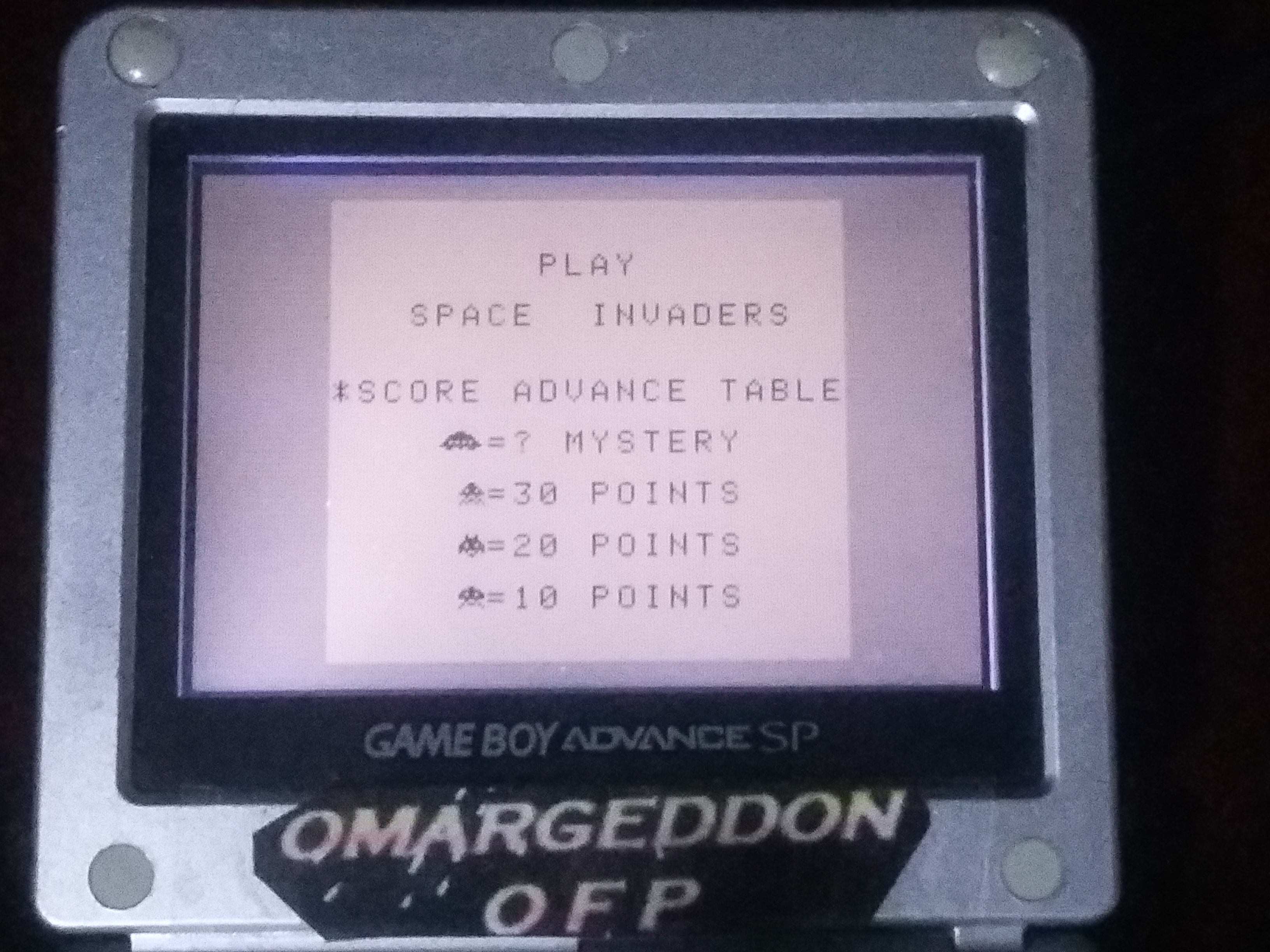 omargeddon: Space Invaders (Game Boy) 7,110 points on 2018-01-14 22:55:04