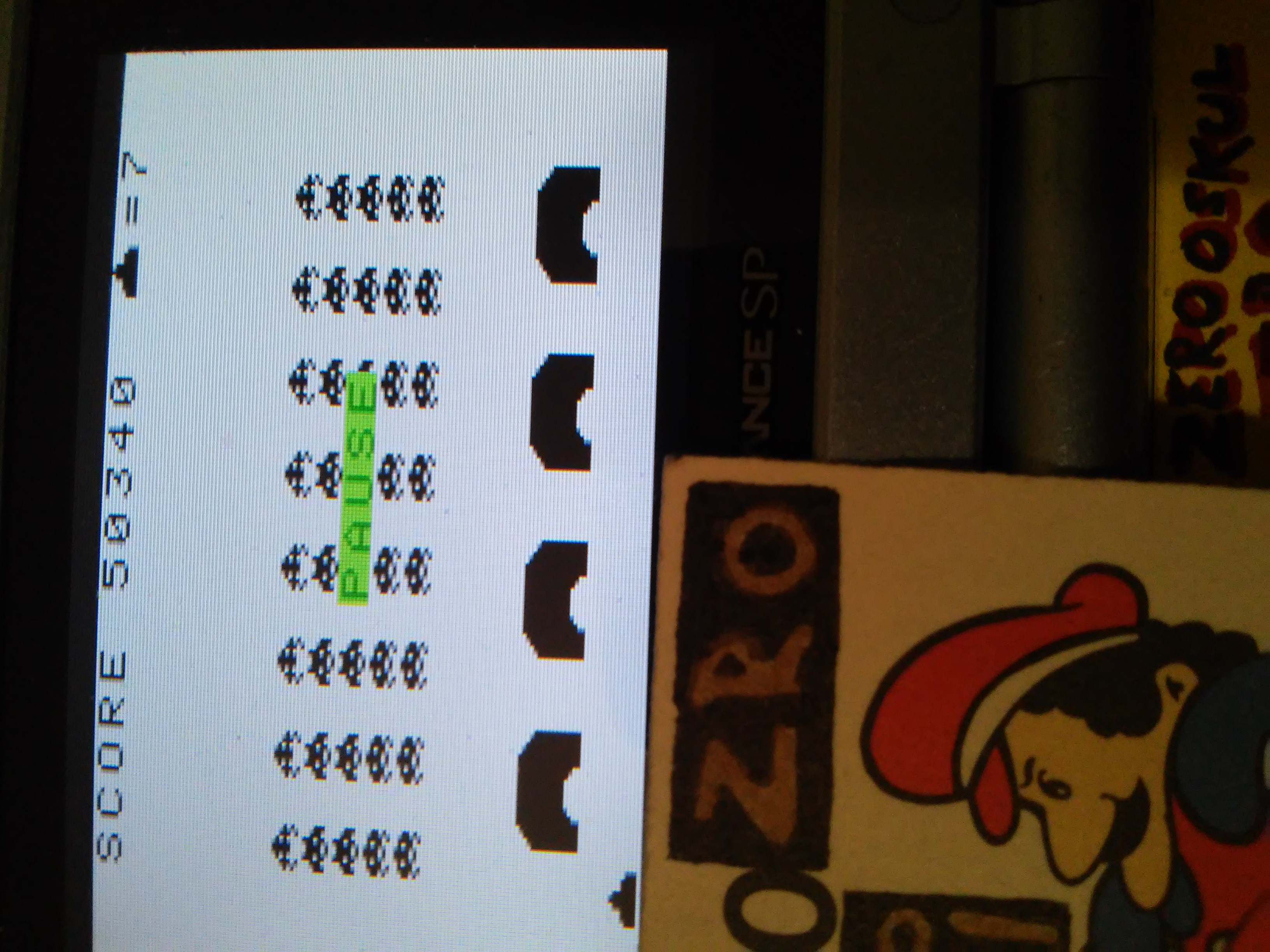 zerooskul: Space Invaders (Game Boy) 61,690 points on 2019-02-17 17:49:44