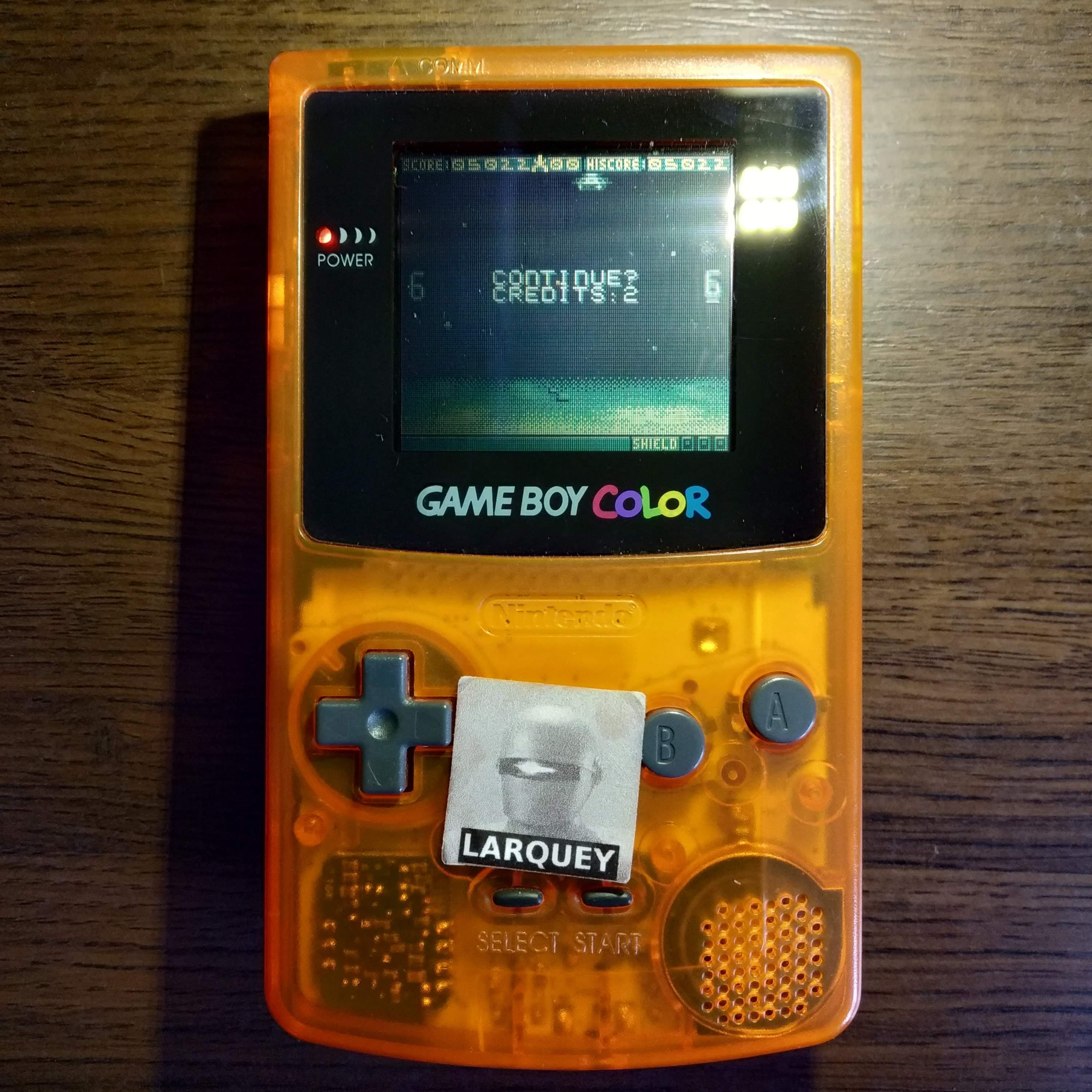 Larquey: Space Invaders [Hard] (Game Boy Color) 5,022 points on 2020-07-15 11:08:11
