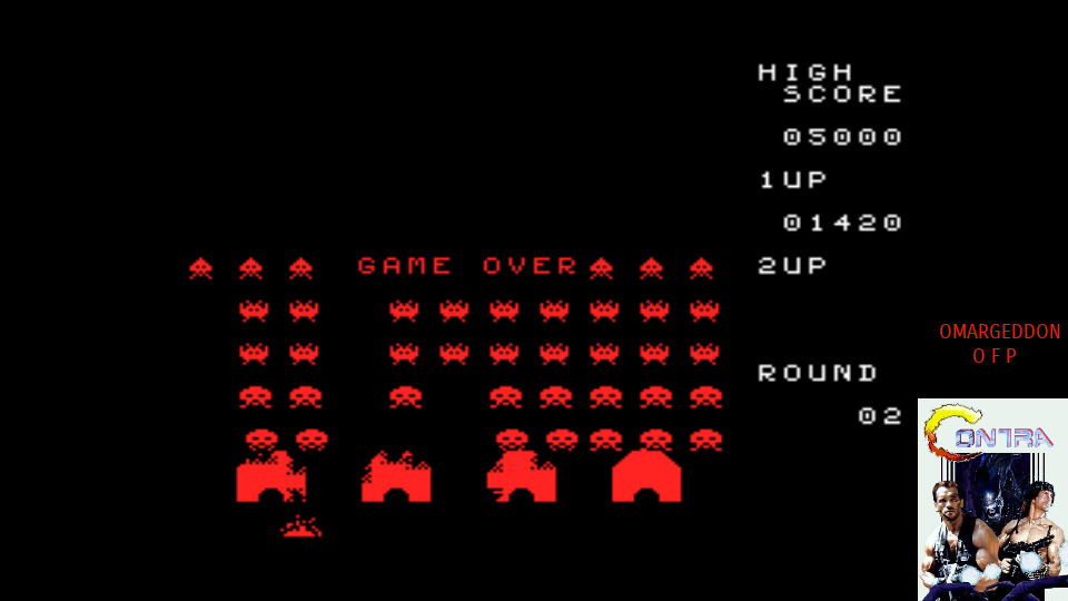 omargeddon: Space Invaders (MSX Emulated) 1,420 points on 2017-07-28 01:22:44