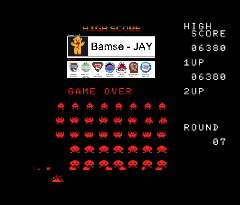 Bamse: Space Invaders (MSX Emulated) 6,380 points on 2020-01-10 15:38:21