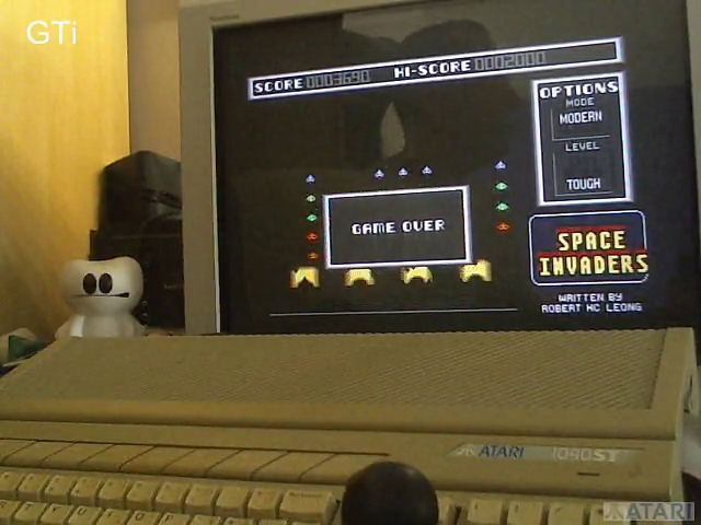 GTibel: Space Invaders [Modern/Tough] (Atari ST) 3,690 points on 2017-07-15 03:42:01