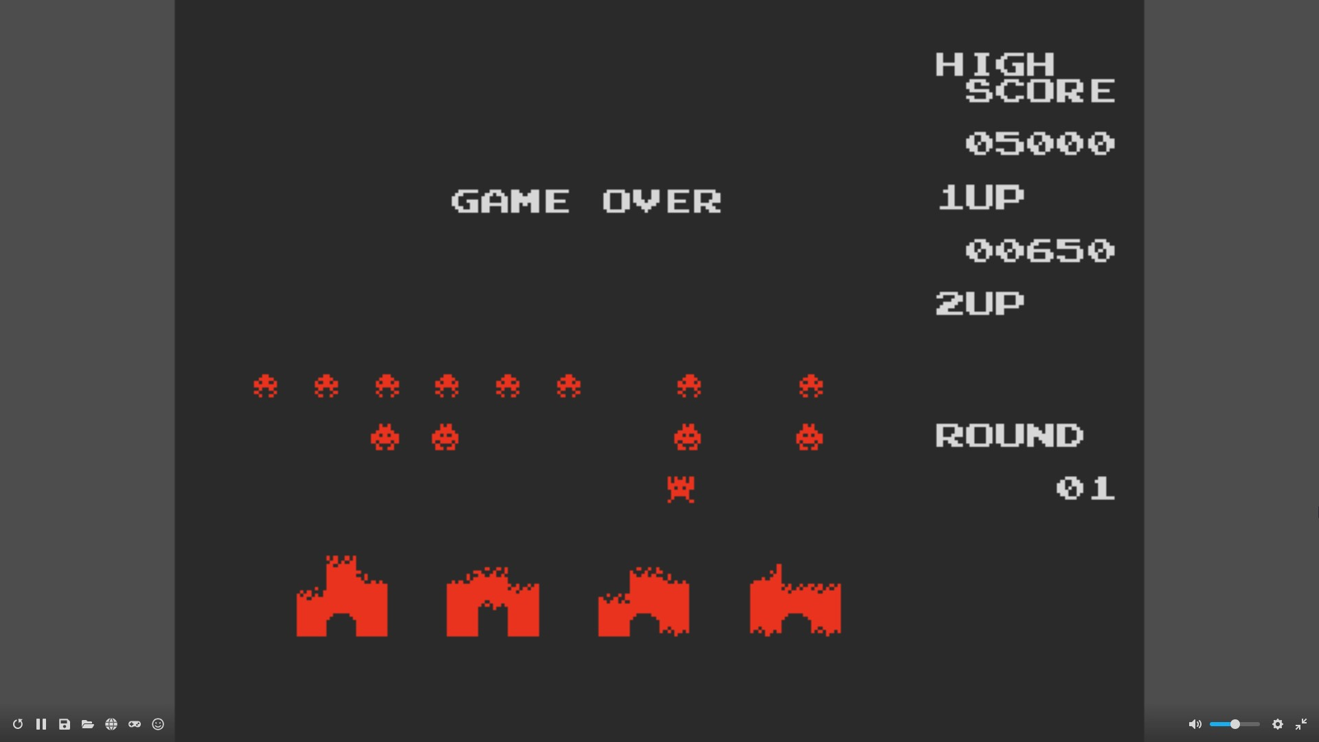 Space Invaders 650 points