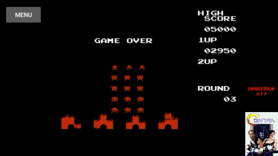 omargeddon: Space Invaders (NES/Famicom Emulated) 2,950 points on 2017-07-14 00:18:13