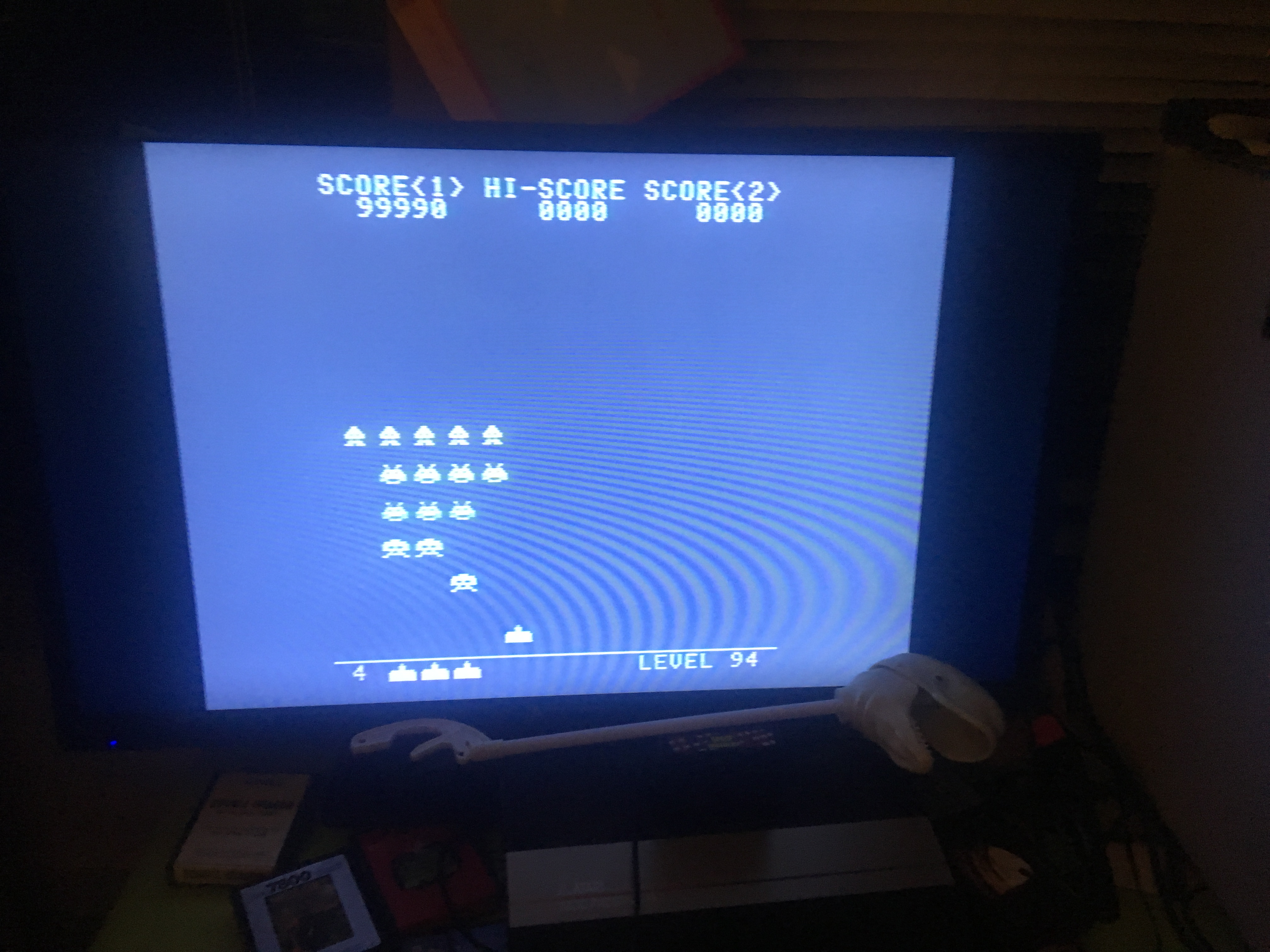 CousinVinnie: Space Invaders [None/No Shields] (Atari 7800) 100,310 points on 2017-10-14 22:30:25