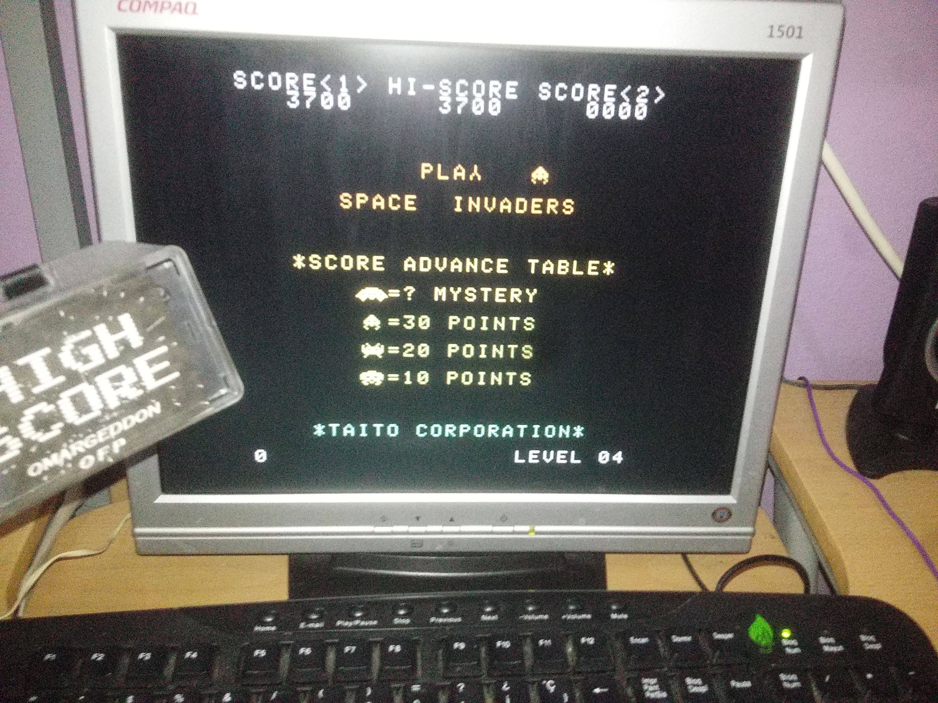 omargeddon: Space Invaders [Normal/Fixed Shields] (Atari 7800 Emulated) 3,700 points on 2017-05-24 21:51:52