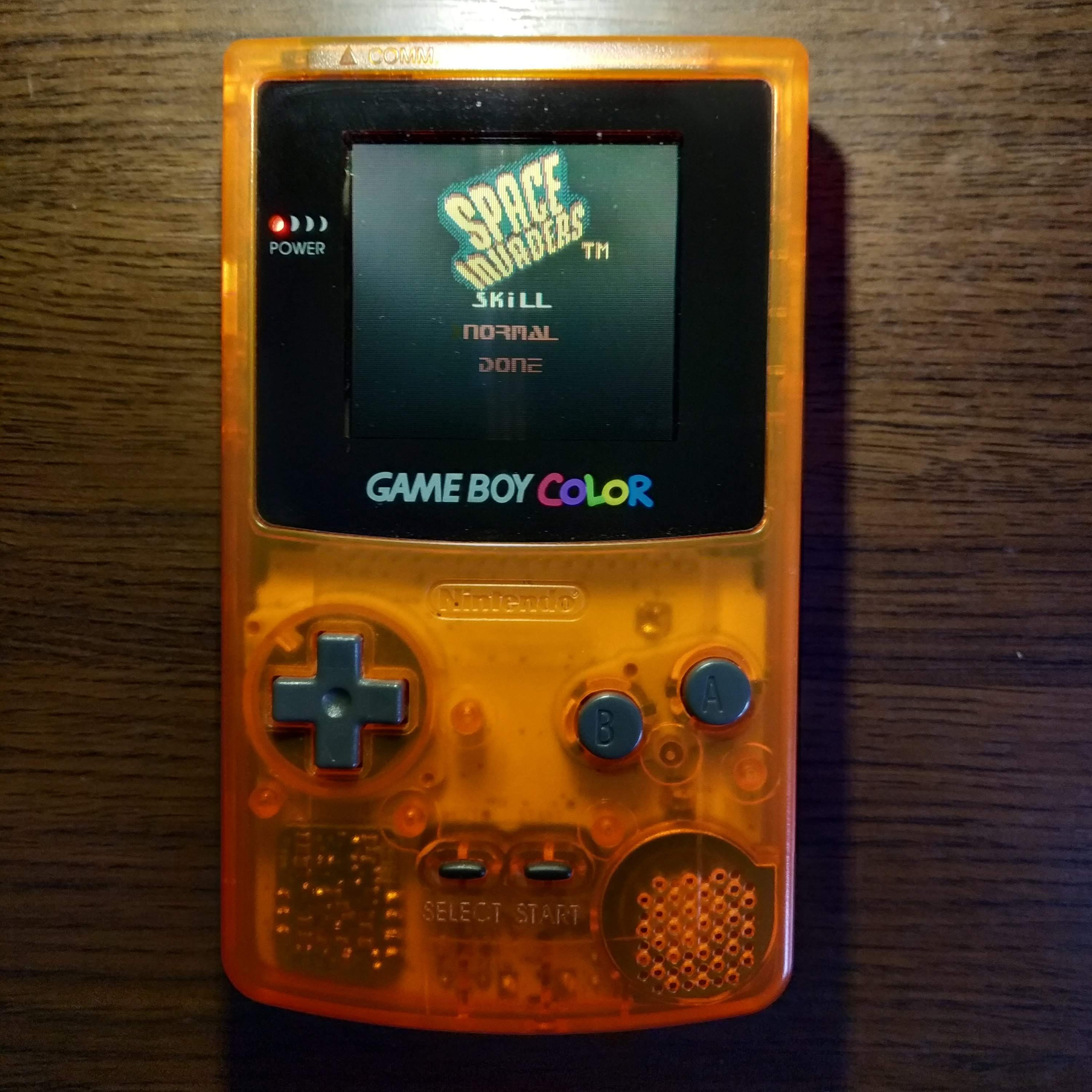Larquey: Space Invaders [Normal] (Game Boy Color) 6,111 points on 2020-07-15 11:03:37