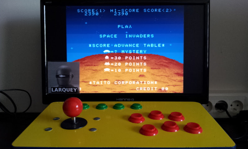 Larquey: Space Invaders (SNES/Super Famicom Emulated) 2,390 points on 2017-05-20 12:07:16