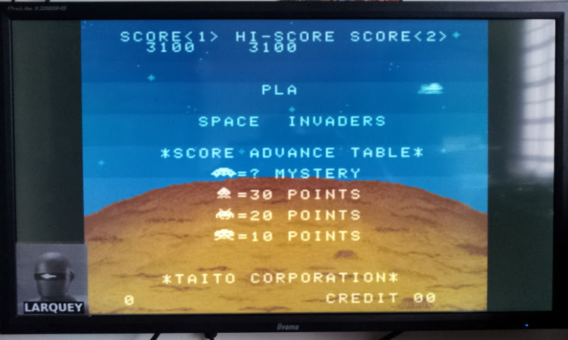 Larquey: Space Invaders (SNES/Super Famicom Emulated) 3,100 points on 2017-11-25 05:45:15