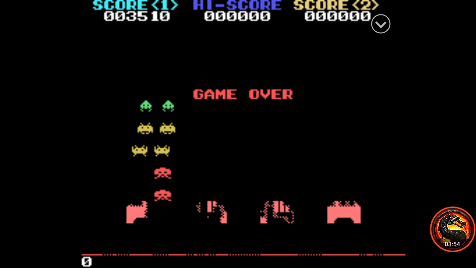 omargeddon: Space Invaders (Sega SG-1000 Emulated) 3,510 points on 2020-02-07 22:29:02