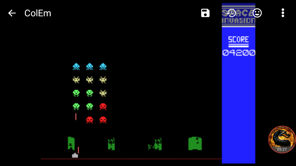 omargeddon: Space Invasion: Deluxe Invasion (Colecovision Emulated) 4,200 points on 2018-08-23 01:20:27