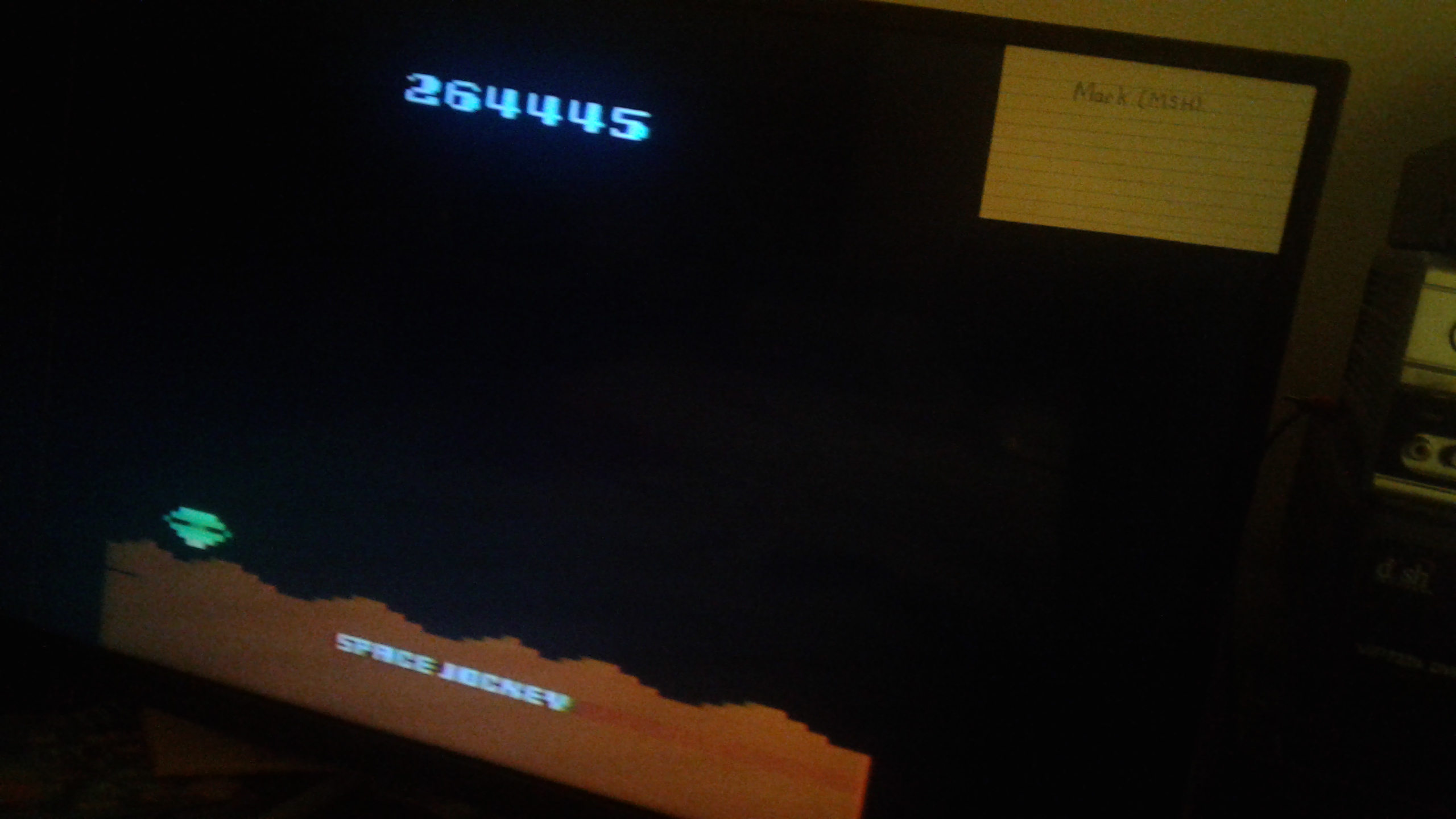 Mark: Space Jockey (Atari 2600 Novice/B) 264,445 points on 2019-03-03 01:18:56