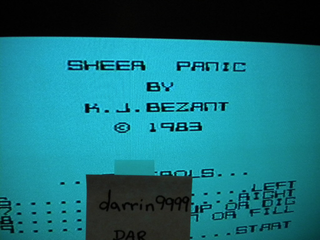 darrin9999: Space Panic [Mikro Gen] / Sheer Panic [Visions] (ZX Spectrum Emulated) 1,000 points on 2016-09-25 11:33:49