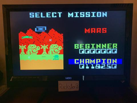 Rickster8: Space Patrol: Mars Champion (Intellivision Emulated) 118,250 points on 2020-10-08 21:37:32