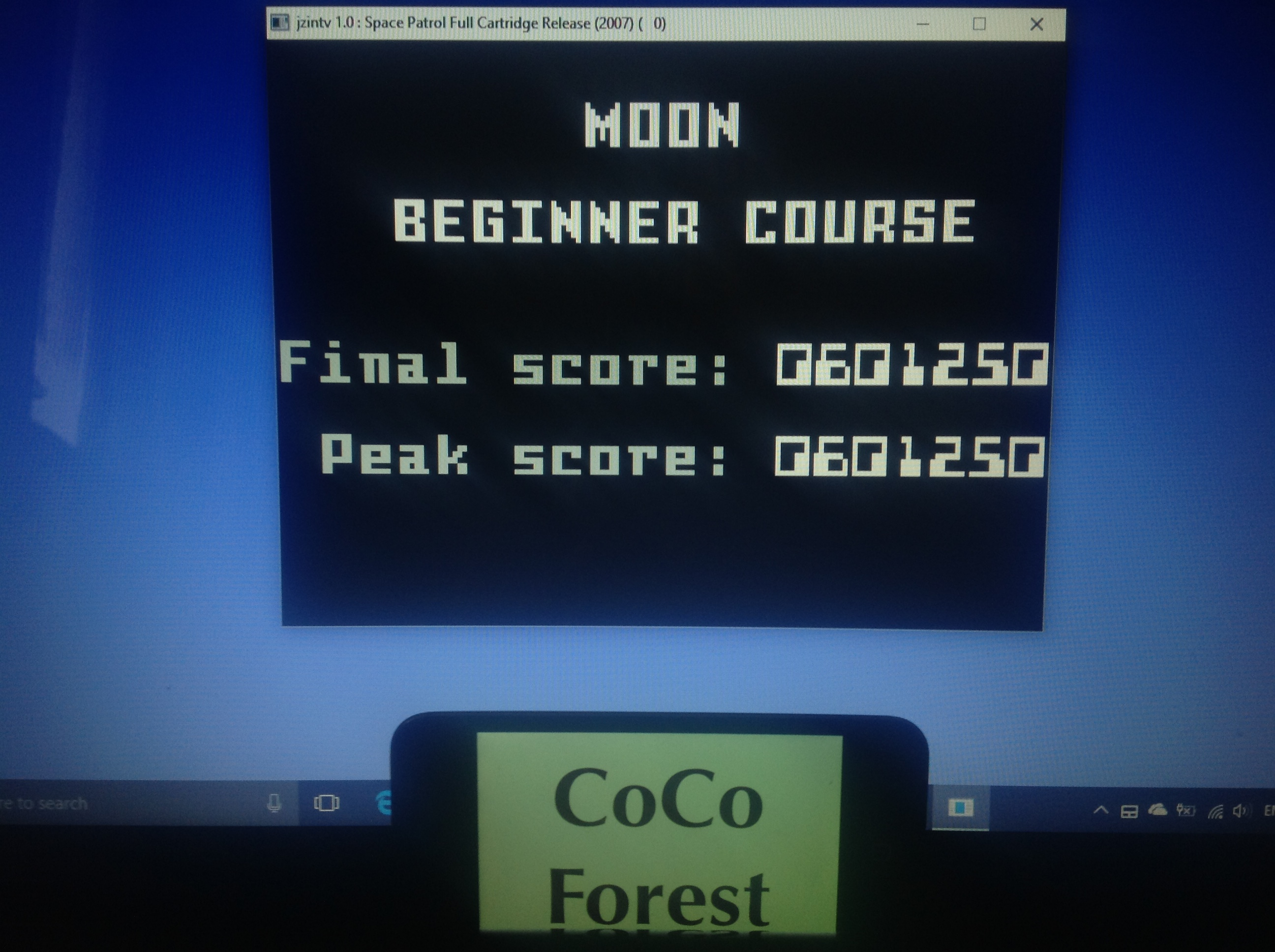 CoCoForest: Space Patrol: Moon Beginner (Intellivision Emulated) 601,250 points on 2018-01-27 05:47:48