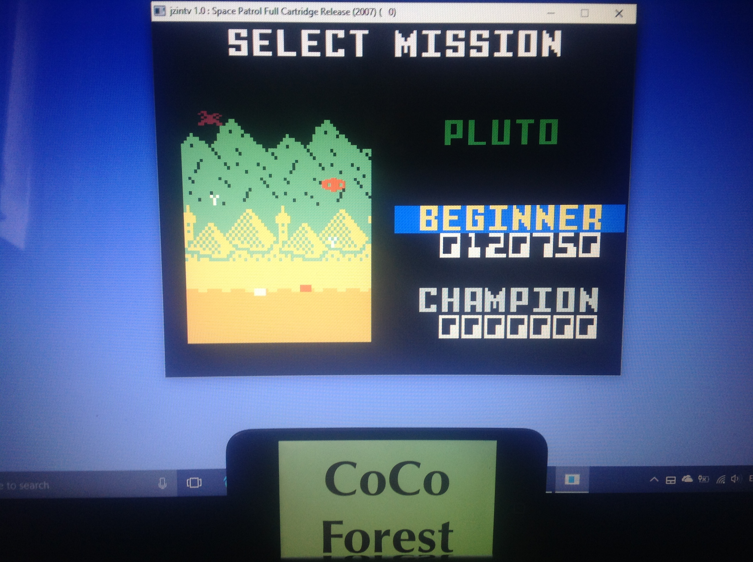 CoCoForest: Space Patrol: Pluto Beginner (Intellivision Emulated) 120,750 points on 2018-01-27 06:06:17