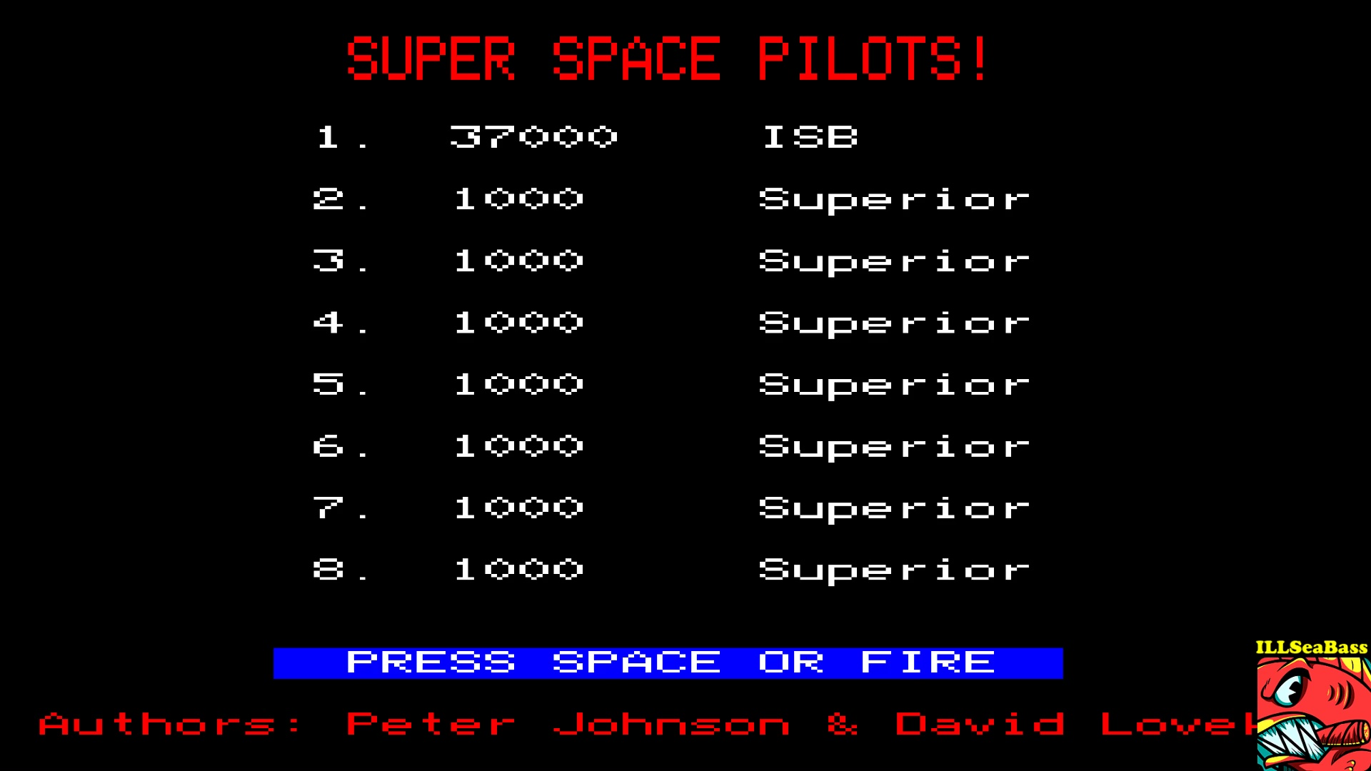 ILLSeaBass: Space Pilot (BBC Micro Emulated) 37,000 points on 2017-10-08 14:22:12
