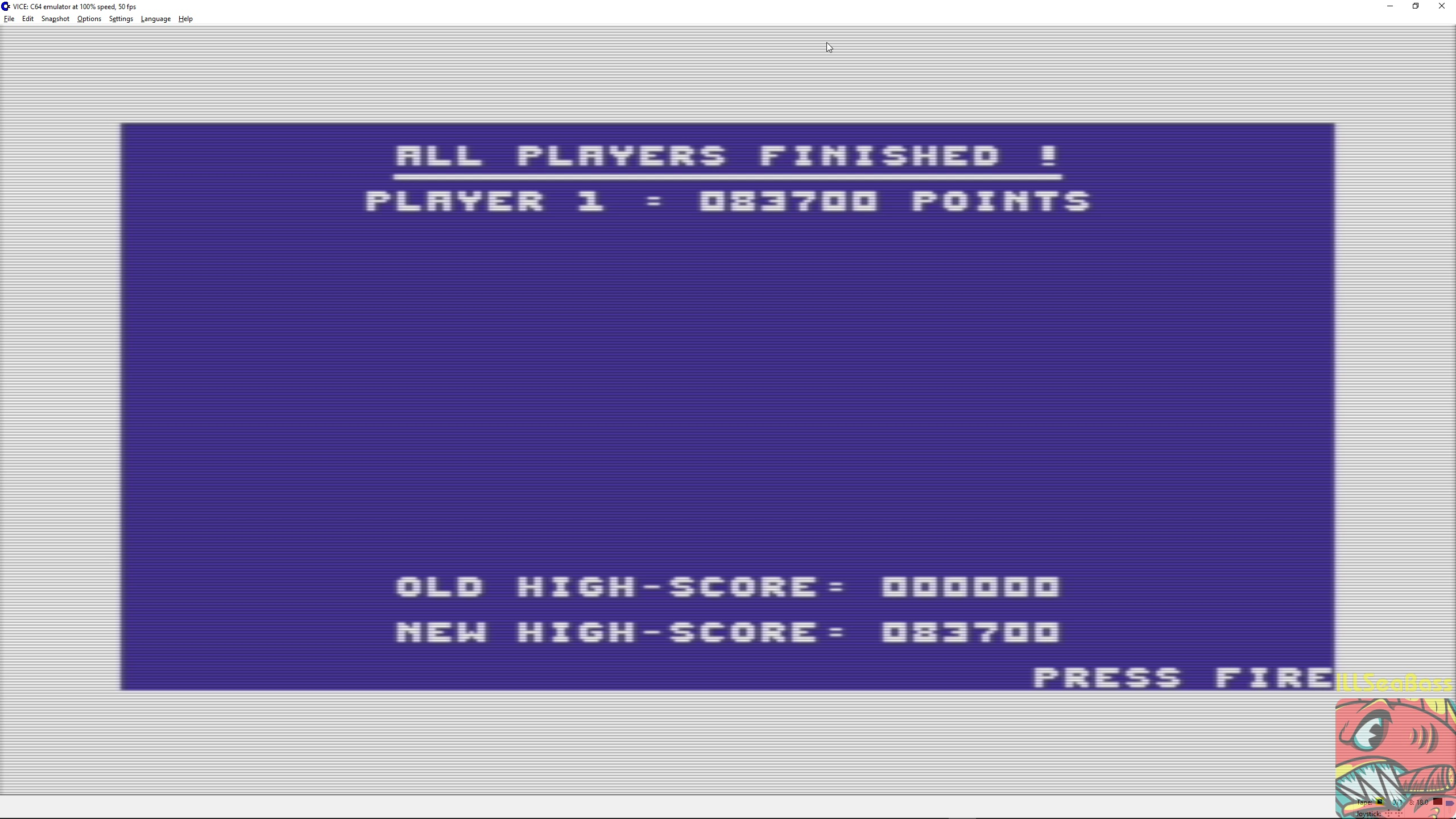 ILLSeaBass: Space Pilot II (Commodore 64 Emulated) 83,700 points on 2018-03-03 23:19:14