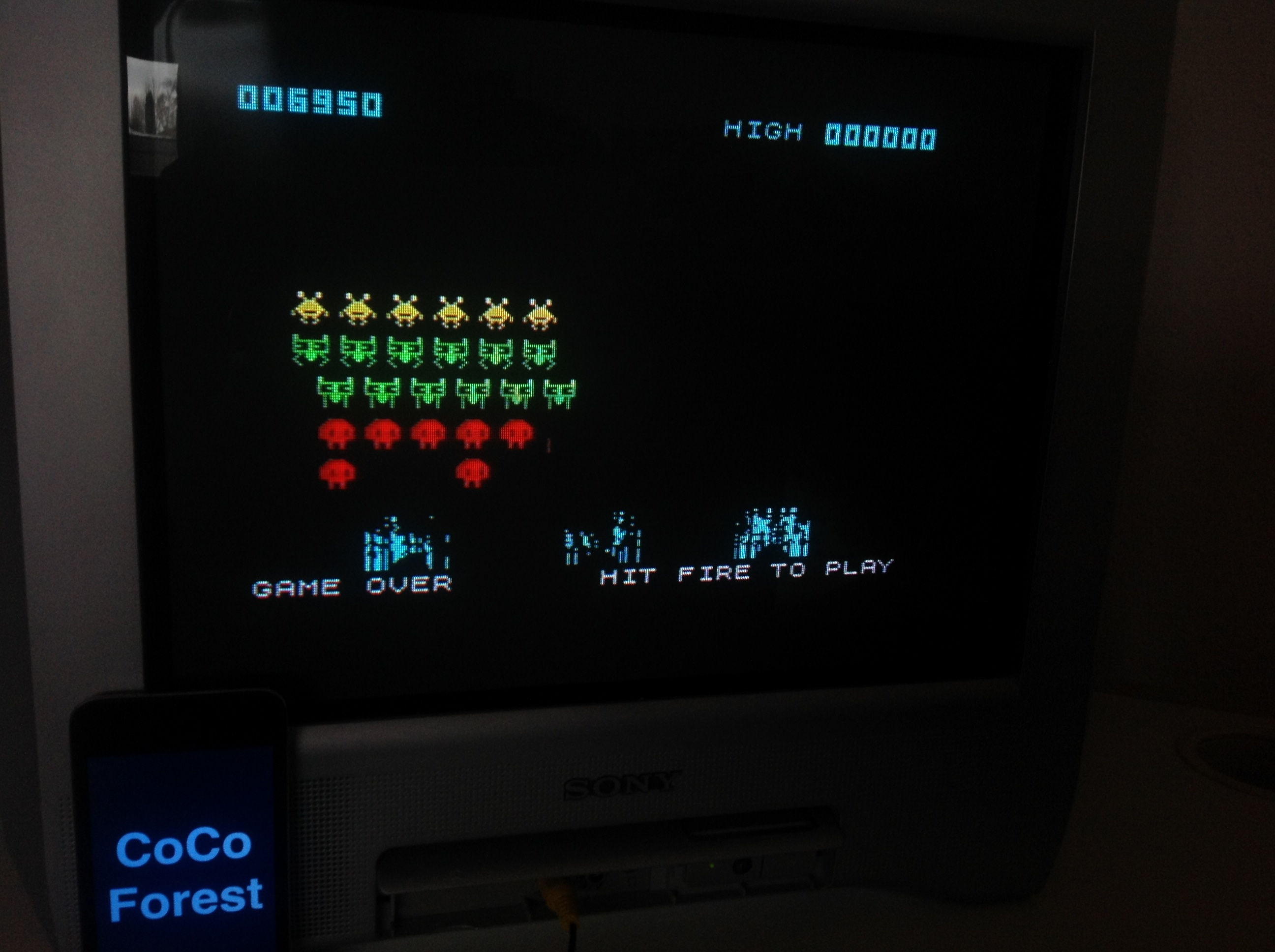 CoCoForest: Space Raiders (ZX Spectrum) 6,950 points on 2016-01-11 06:39:56