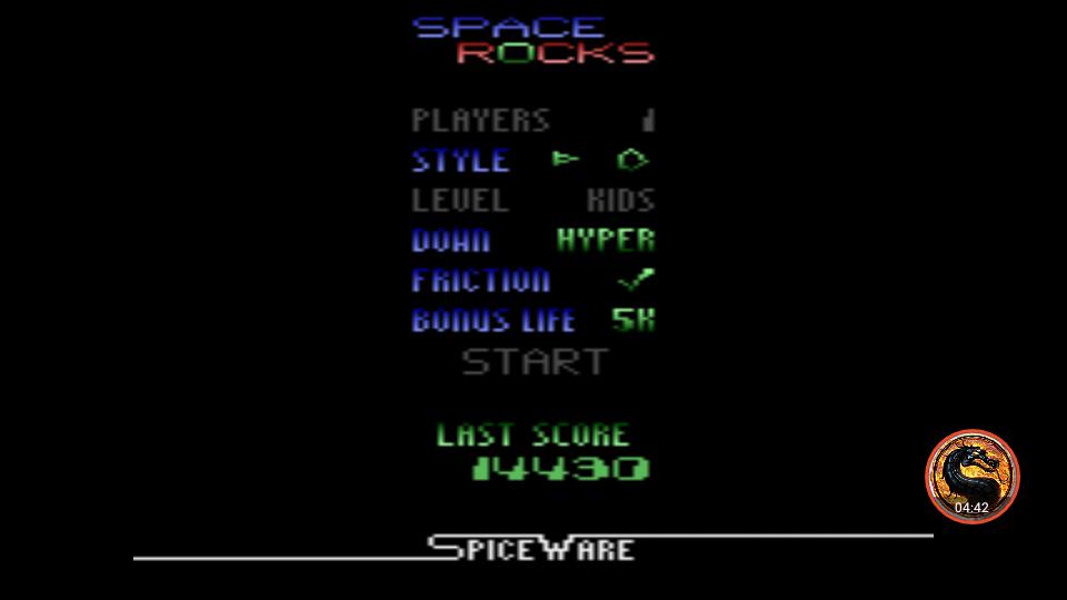 omargeddon: Space Rocks (Atari 2600 Emulated) 14,430 points on 2019-03-24 19:19:29