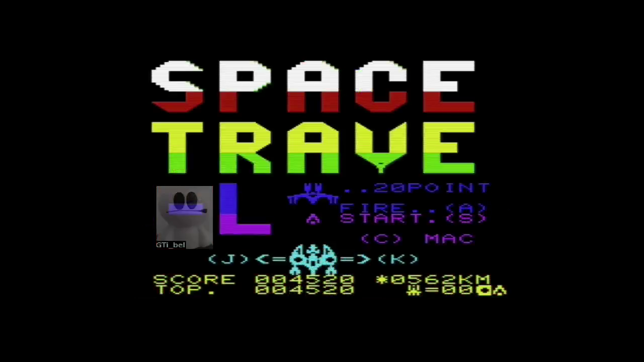 GTibel: Space Travel [Mikro-Gen] (Commodore VIC-20 Emulated) 4,520 points on 2018-02-02 15:03:56