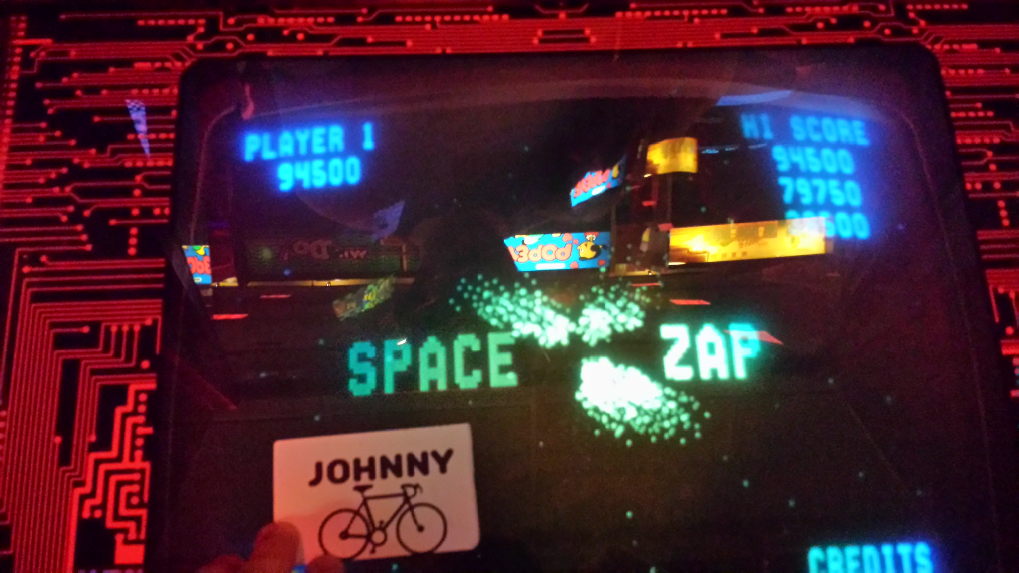Space Zap 94,500 points