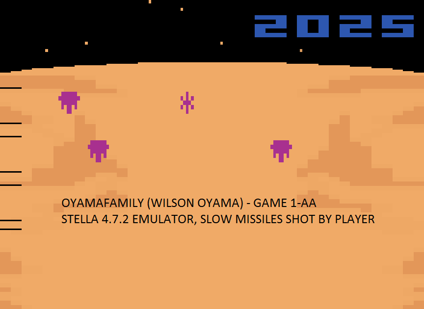 oyamafamily: Spacechase (Atari 2600 Emulated Expert/A Mode) 2,025 points on 2016-08-07 12:29:09