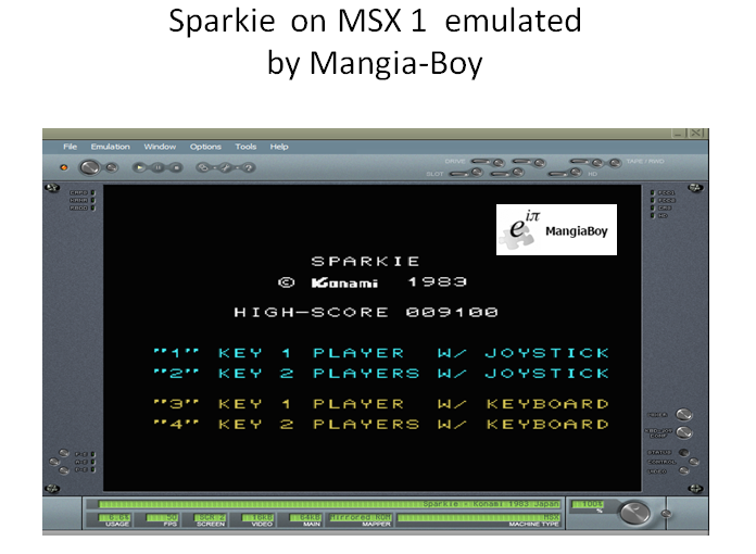 MangiaBoy: Sparkie (MSX Emulated) 9,100 points on 2018-12-17 15:58:17