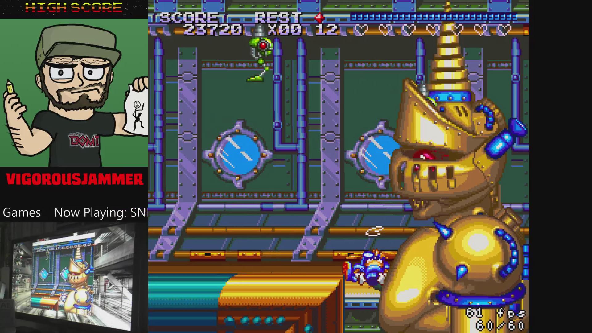 vigorousjammer: Sparkster (SNES/Super Famicom Emulated) 23,720 points on 2015-08-31 00:33:48