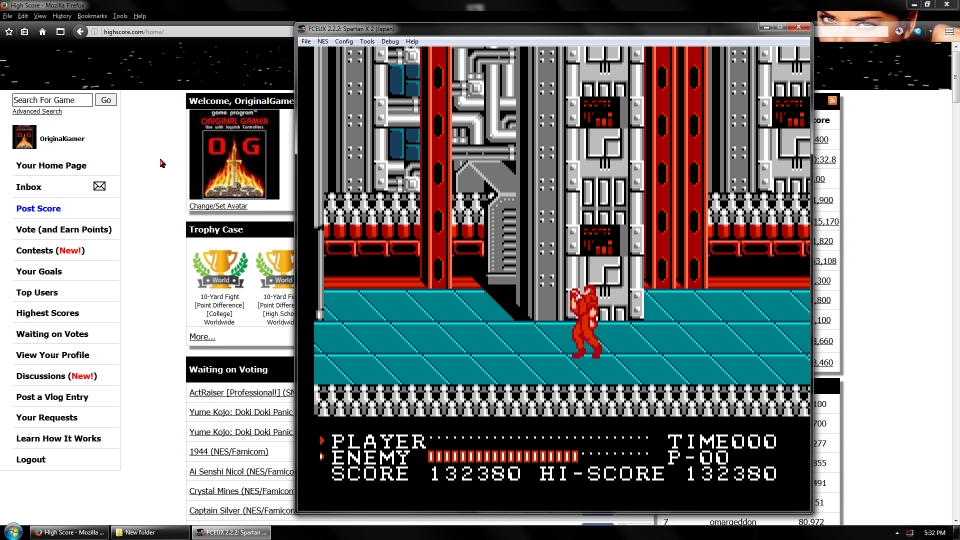 OriginalGamer: Spartan-X 2 [Normal] (NES/Famicom Emulated) 132,380 points on 2016-09-23 03:42:50