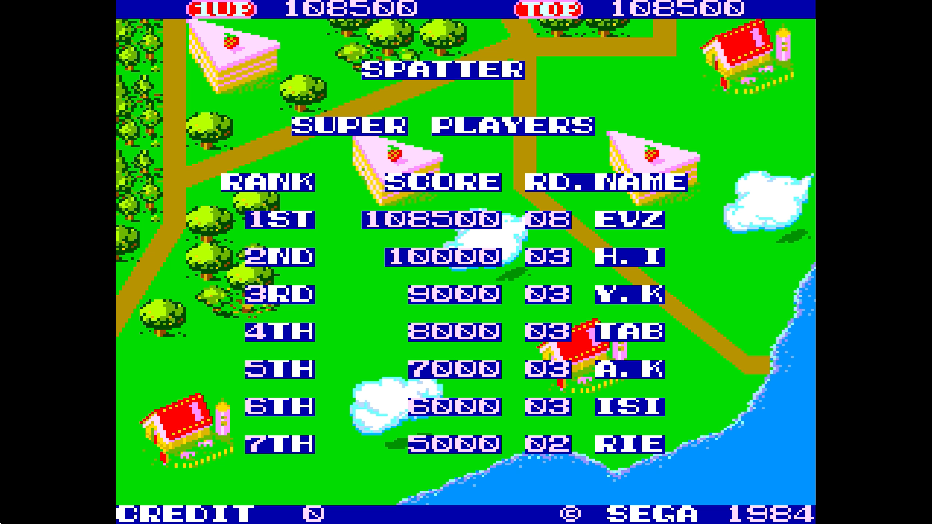 ministorm04: Spatter [spatter] (Arcade Emulated / M.A.M.E.) 108,500 points on 2019-02-21 05:29:28
