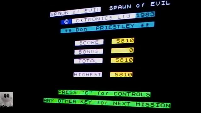 GTibel: Spawn of Evil (ZX Spectrum) 5,810 points on 2017-11-23 07:46:04