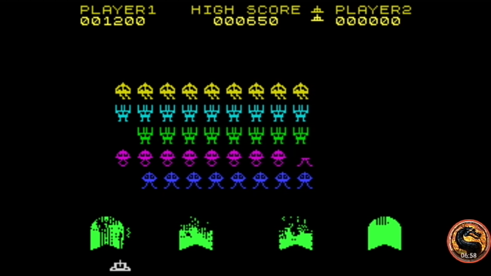 omargeddon: Spectral Invaders (ZX Spectrum Emulated) 1,200 points on 2019-06-22 20:36:34