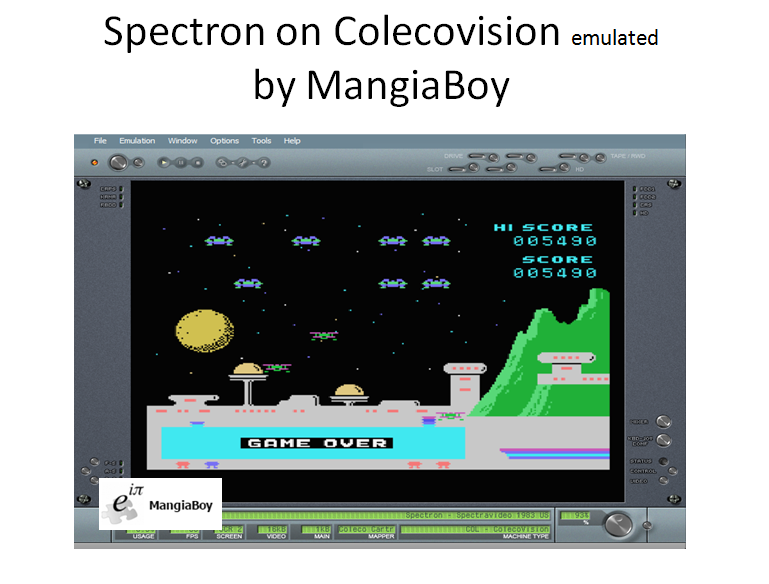 MangiaBoy: Spectron: Skill 1 (Colecovision Emulated) 5,490 points on 2016-04-20 07:31:32