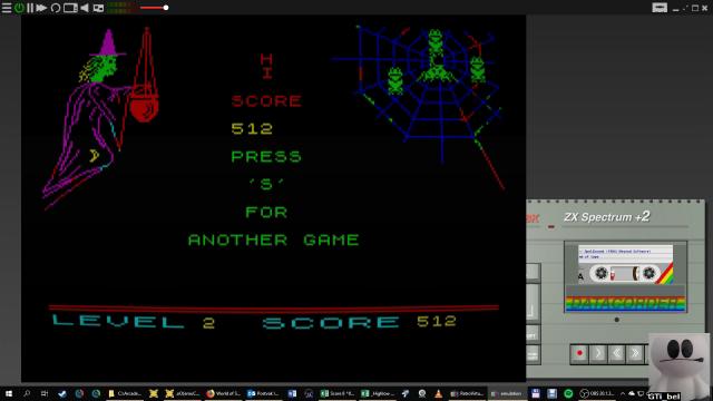 GTibel: Spellbound [Beyond Software] (ZX Spectrum Emulated) 512 points on 2019-01-25 03:17:22