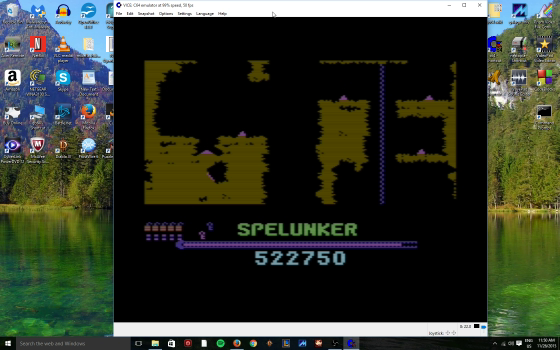 MikeDietrich: Spelunker (Commodore 64 Emulated) 522,750 points on 2016-10-26 13:18:36