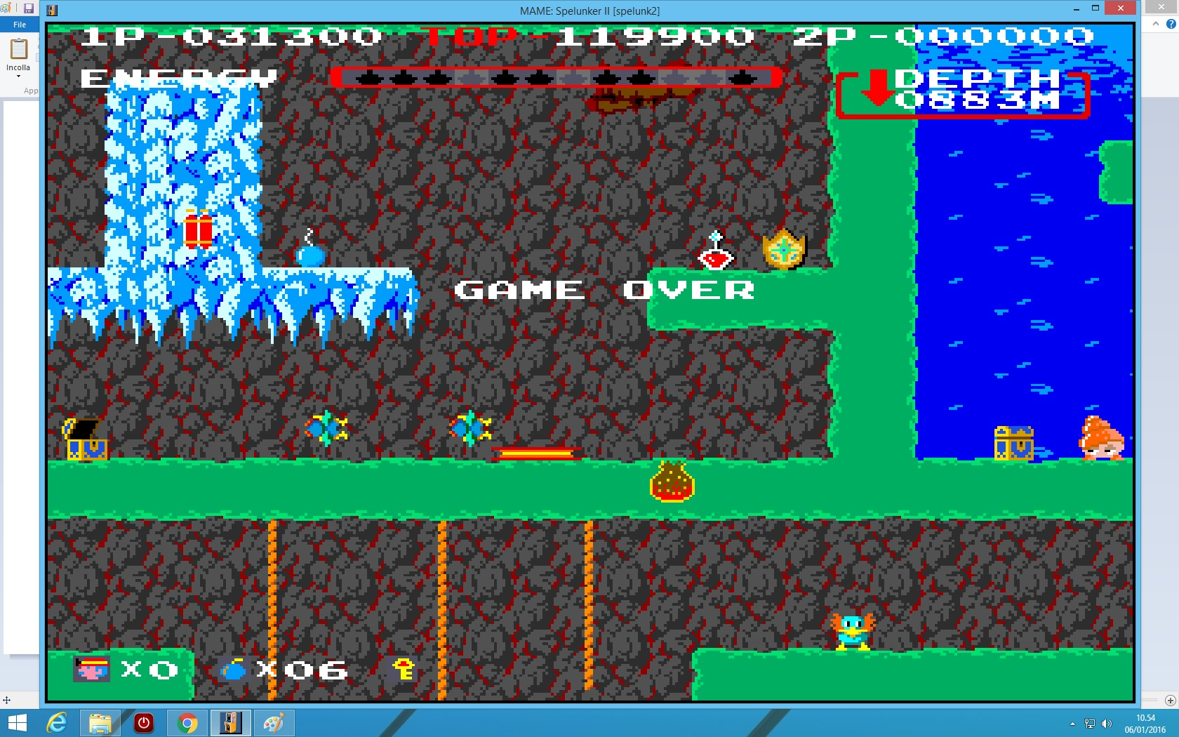 lenny2571: Spelunker II (Arcade Emulated / M.A.M.E.) 31,300 points on 2016-01-06 03:55:42