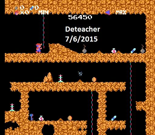 Deteacher: Spelunker (NES/Famicom Emulated) 56,450 points on 2015-07-06 10:59:42