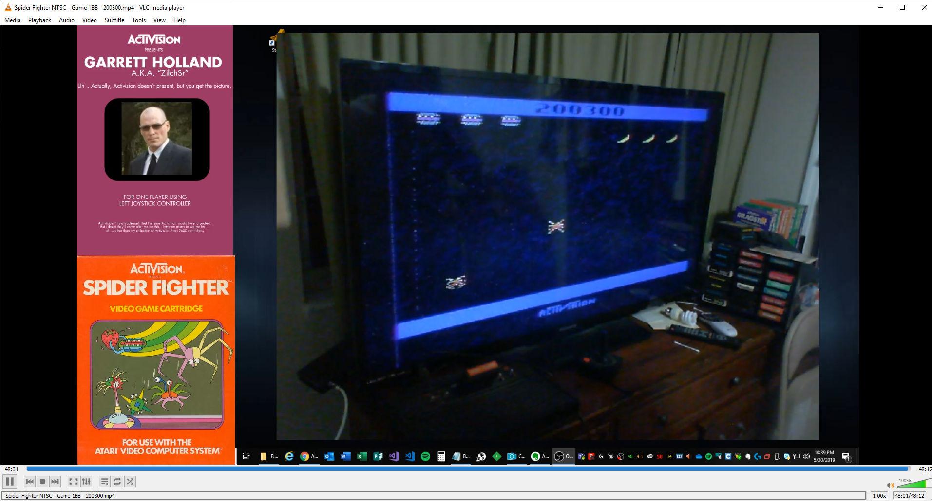 ZilchSr: Spider Fighter (Atari 2600 Novice/B) 200,300 points on 2019-05-30 23:49:02