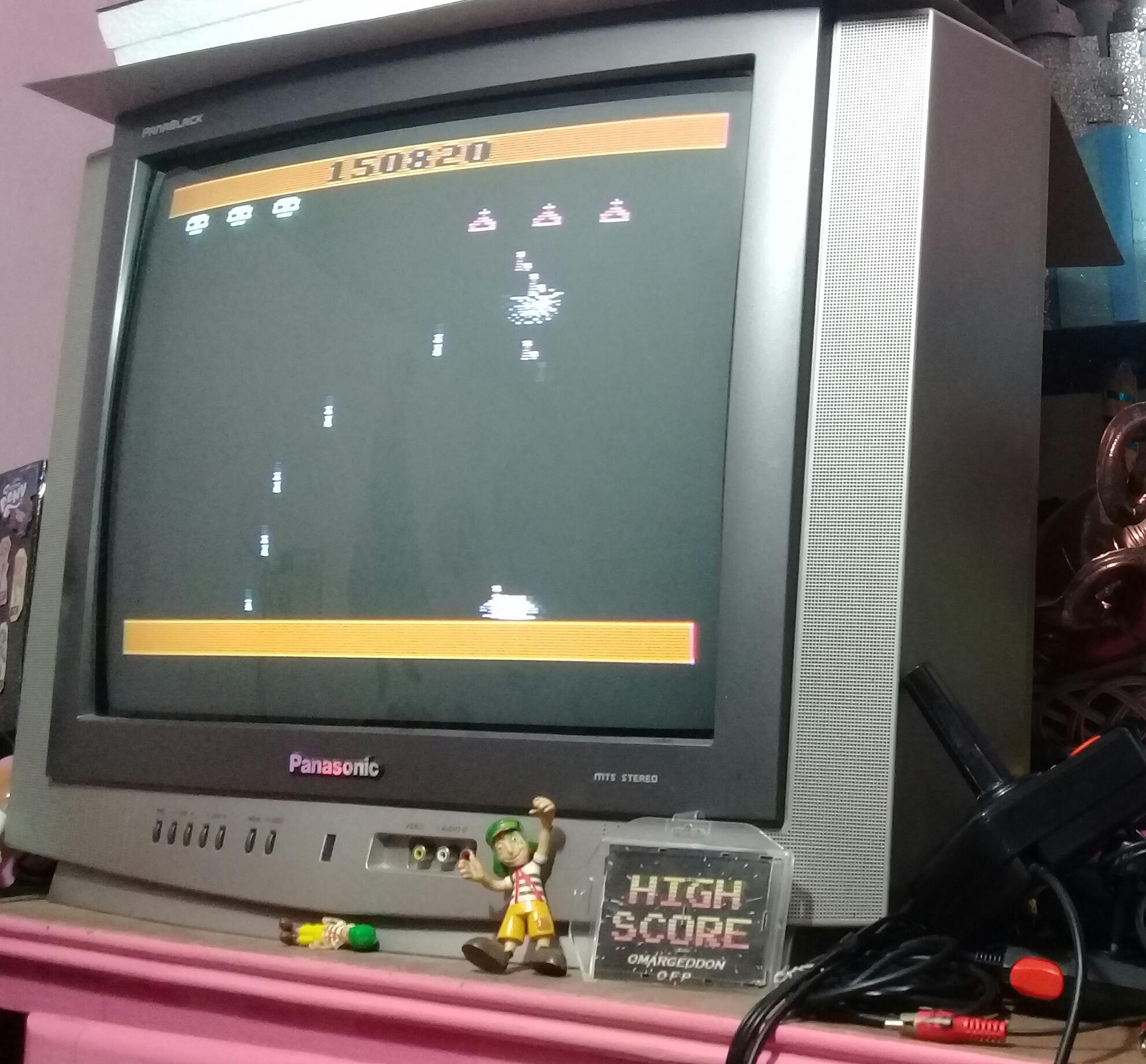 omargeddon: Spider Fighter (Atari 2600 Novice/B) 150,820 points on 2019-06-06 09:54:55