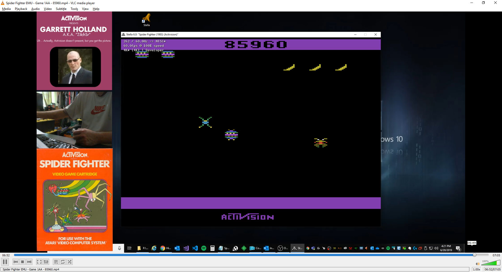 ZilchSr: Spider Fighter (Atari 2600 Emulated Expert/A Mode) 85,960 points on 2019-06-20 15:24:17