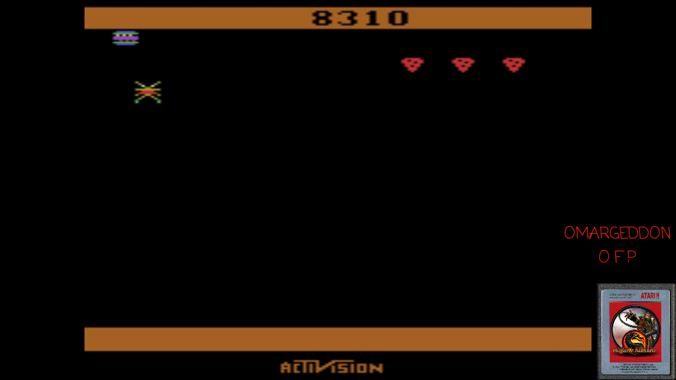 omargeddon: Spider Fighter (Atari 2600 Emulated Novice/B Mode) 8,310 points on 2017-04-14 15:43:39