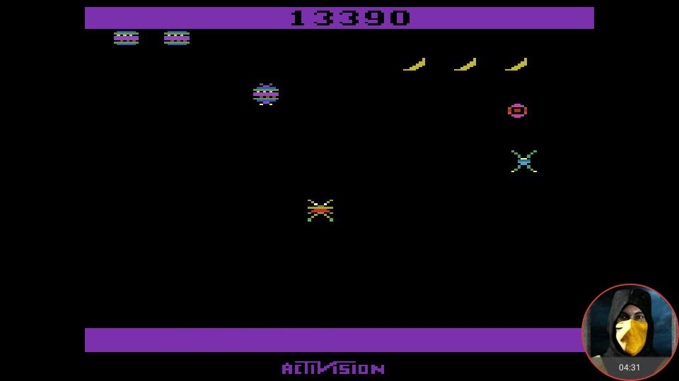 omargeddon: Spider Fighter (Atari 2600 Emulated Novice/B Mode) 13,390 points on 2018-02-19 00:44:29