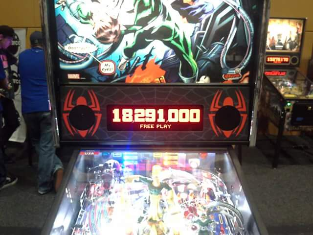 Spider-Man 18,291,000 points