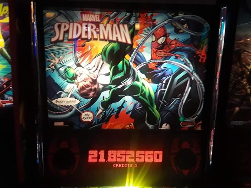 JML101582: Spider-Man VE [Stern 2016] [3 balls] (Pinball: 3 Balls) 21,852,560 points on 2019-04-21 15:39:38